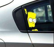Bart Simpson autós matric