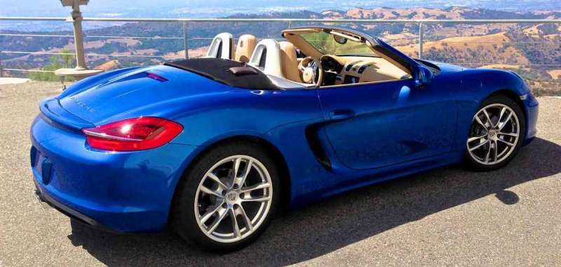 Porsche kék gyöngyházmetál autófesték