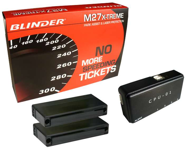 BLINDER M27 X-TREME professzionális multifunkciós lézerblokkoló (2 blokkolófejes, parkolósegéd funk