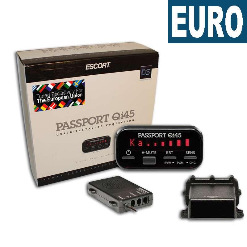 ESCORT Qi45 Euro professzionális radar- és lézerdetektor (beépíthető)