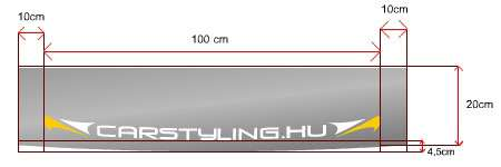 Napvédő alap Carstyling.hu szélvédőmatricához