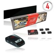 KIYO E-255 Black Edition jelzőkészülék + KIYO D Lite parkolósegéd berendezés (4 szenzorral) + ajándé