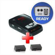 KIYO E-255 Black Edition jelzőkészülék + KIYO D Lite parkolósegéd berendezés (2 szenzorral)