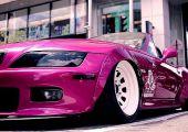 Pinkben, de hölgy tulajdonostól: rettentően patent widebody BMW Z3, a kanadai Ladies on Wheels találkozóról.