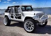 Terepjáró egy kicsit másképp: Jeep Wrangler 26 colos luxusfelnivel és terepabronccsal. Üt!
