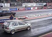 Így fut 8.7 másodpercet egy Volkswagen Golf MK3 negyedmérföldön.