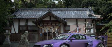 Garage Ill R8. Szétszélesített Audi, japánból.
