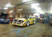 Audi S1 garage burnout. Azt hiszem ennyi elég is!