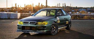 Ford V8 motor, hátsókerék hajtás és mindez egy Subaruban!