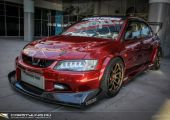 Mitsubishi EVO Voltex köntösben a SEMA show-ról.