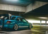 Tönkretett rally autó - Subaru Impreza