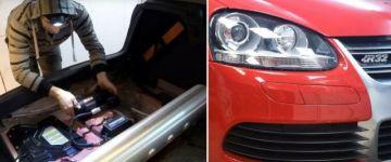 Drop In Tuning - Golf V R32 airride beépítés