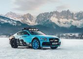 Bentley Continental GT - Rally autó, havas pályára.