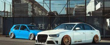 2 barát, 2 autó, 1 stílus - Audi A4/Volkswagen Golf Mk4