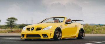 Le a tetővel! - Mercedes SLK Indonéziából.