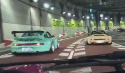 Pénteki feeling: Rauh-Welt Begriff Porschék versenye a japán autópálya egyik alagútjában