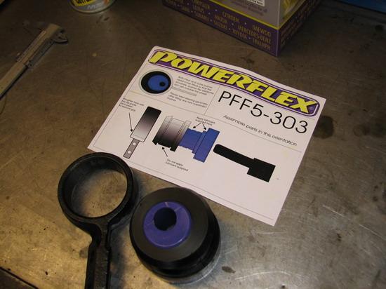 A Powerflex tuning szilent és a beszerelési ábra