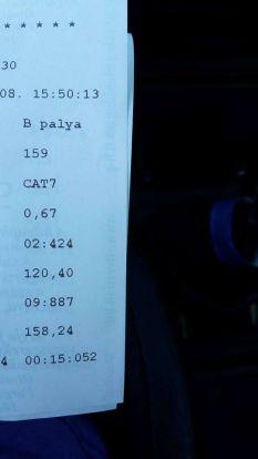 FWD, Phase 3+ chip, 0,7 bar, rossz váltóval : 15,052 mp @ 402 m @ 158,24 km/h