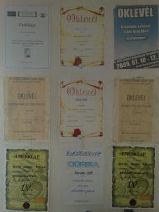 Oklevelek,Emléklapok 2009